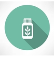 herb medicine icon vector image