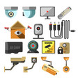 house or premises security surveillance camera or vector image vector image