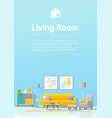 interior background with cozy colorful living room vector image