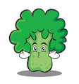 kissing broccoli chracter cartoon style vector image vector image