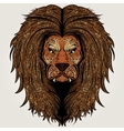 Lion brown colored vector image vector image