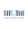 logo for dental company clinic office vector image