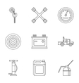 Maintenance car icons set outline style vector image vector image