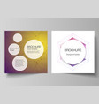 minimal layout two square format covers vector image