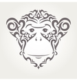 monkey symbol new year vector image vector image