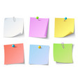 paper notes top view note sticker set vector image