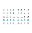 people avatars collection default vector image vector image