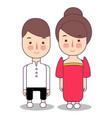 philippines filipino wedding couple cute vector image vector image