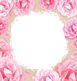 pink roses on a beige background vector image vector image