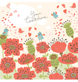 Poppy floral background vector | Price: 1 Credit (USD $1)
