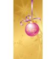purple Christmas ball vector image