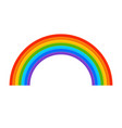 rainbow icon flat spectrum vector image