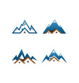 real estate house mountain logo template vector image
