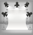 realistic detailed 3d photo studio and equipments vector image vector image
