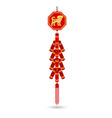 red chinese firecracker flat icon vector image vector image
