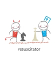 resuscitator plays chess with the devil vector image vector image