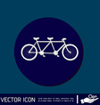retro bicycle icon vector image vector image