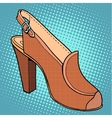 Retro shoes womens vector image vector image