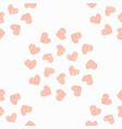 seamless pattern background with heart vector image vector image