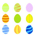 set of colorful easter eggs with simple vector image vector image