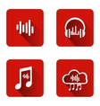 Set of icons for music streaming service vector image vector image