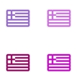 Set of paper stickers on white background flag of vector image vector image