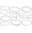 set of text speech bubbles doodles vector image vector image