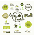 set organic food labels and design elements vector image vector image