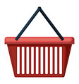 shopping basket colorful silhouette on white vector image vector image