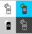 smartphone camera shot icon take picture symbol vector image vector image