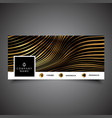 social media timeline cover with gold stripes vector image