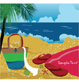 summer background with sea creatures vector image vector image