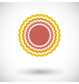 Sun single flat icon vector image vector image