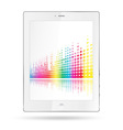tablet pc with equalizer colorful lines vector image vector image