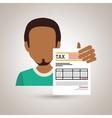 tax debtor design vector image