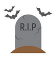 tombstone flat icon halloween and scary grave vector image