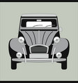 vintage car flat style vector image vector image