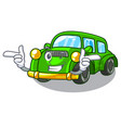 wink miniature classic car in shape characters vector image