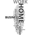 work at home moms text word cloud concept vector image vector image