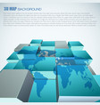world map 3d abstract background
