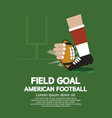 Field Goal American Football vector image