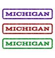 michigan watermark stamp vector image