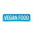 Vegan food blue 3d realistic square isolated vector image