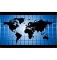 blue world map square background vector image
