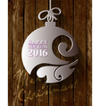 2016 White Paper Origami Happy New Year card on vector image vector image