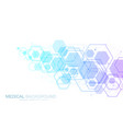 abstract medical background dna research molecule vector image vector image