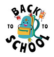back to school banner welcome flat template with vector image vector image