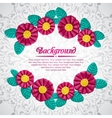 Beautiful frame of plasticine flower branches vector image vector image