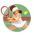 Beautiful girl play tennis vector image vector image