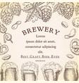 beer background pub banner flyer template vector image vector image
